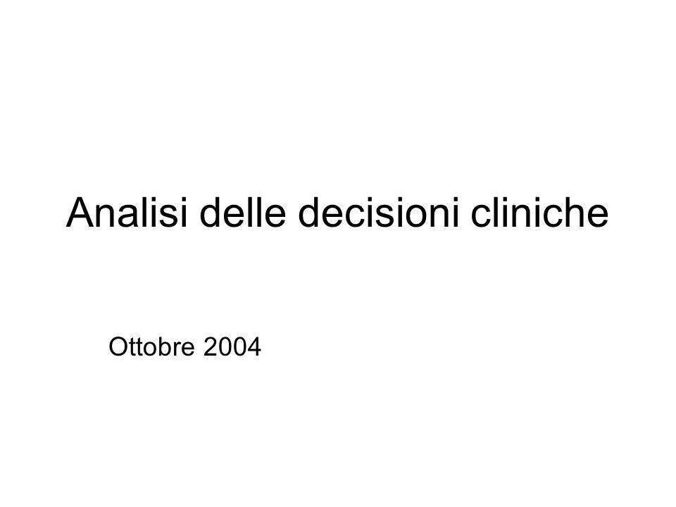 Analisi delle decisioni cliniche Ottobre 2004