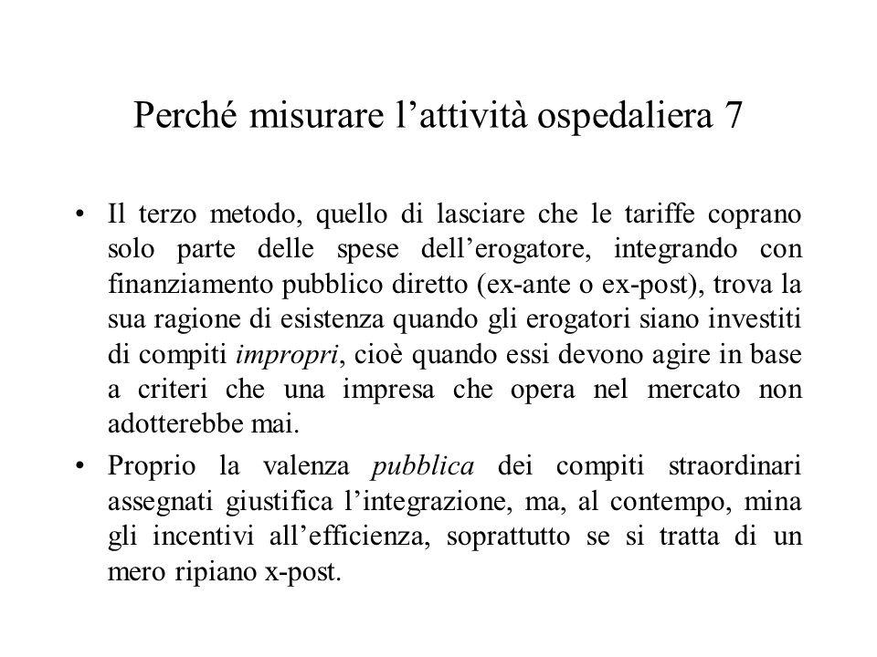Problemi di applicazione nella realtà italiana Ampie differenziazioni nella tariffazione su base regionale, per tenere conto di differenti costi, lunghe durate, fattori esplicativi aggiuntivi.