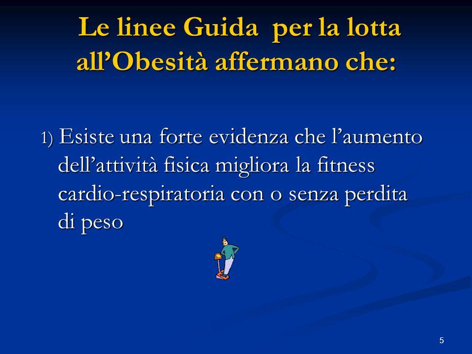 6 migliorando la qualità di vita nei soggetti in sovrappeso, aumentando il tono dell'umore, l'autostima e il benessere fisico nella vita quotidiana.