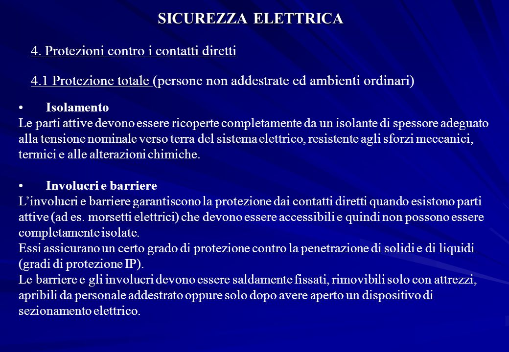 SICUREZZA ELETTRICA 4.
