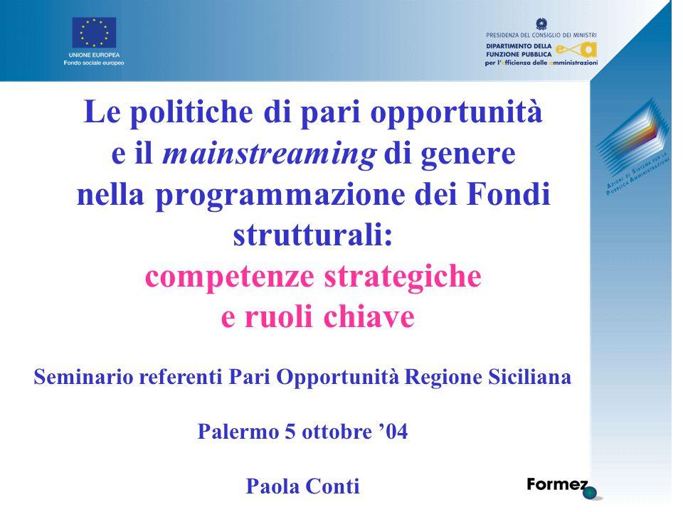 Progettiamo un piano d'azione per far funzionare La rete delle referenti di Pari Opportunità