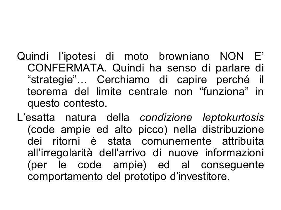 Quindi l'ipotesi di moto browniano NON E' CONFERMATA.