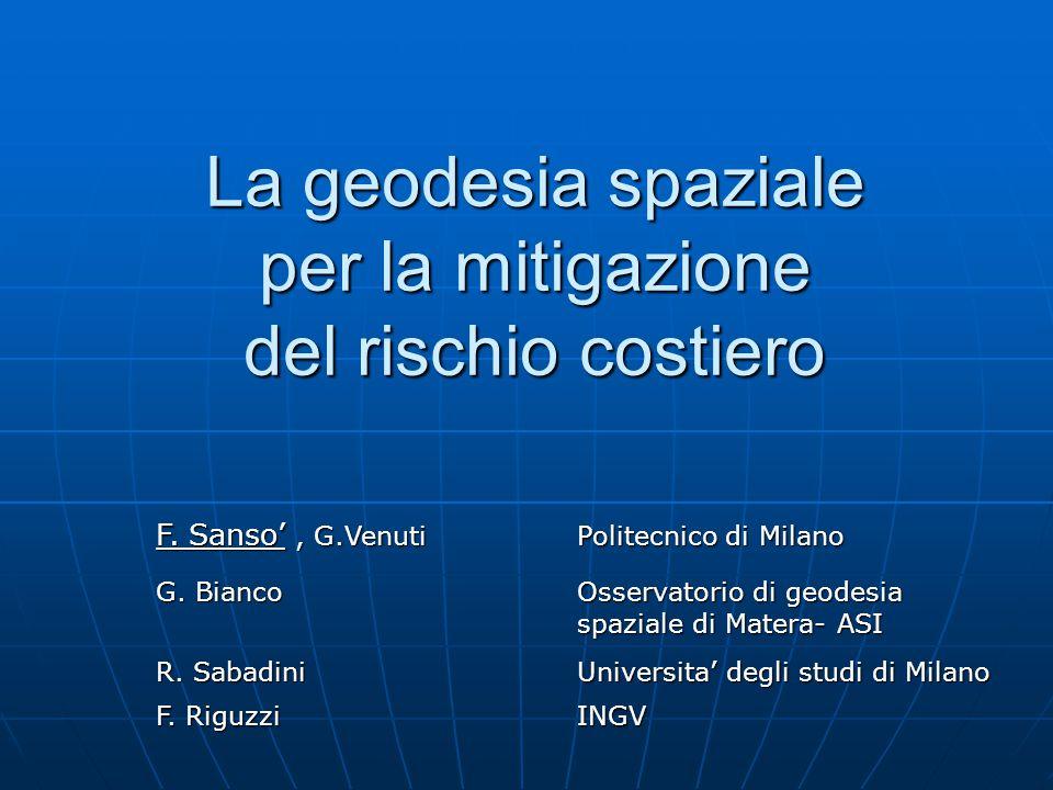 La geodesia spaziale per la mitigazione del rischio costiero F.