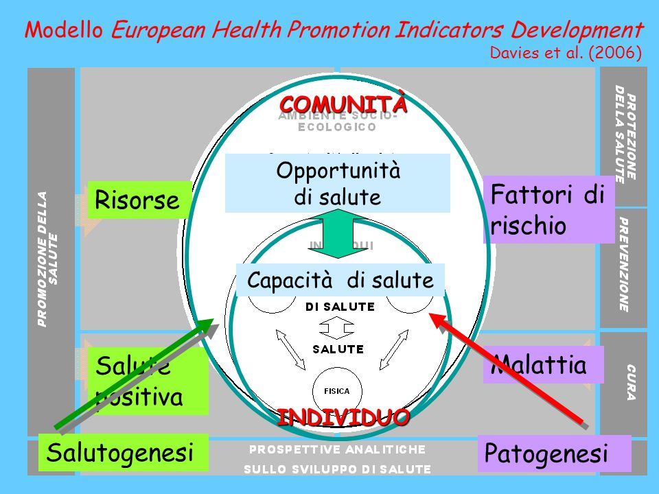 I programmi di promozione della salute hanno un maggiore successo se sono integrati nella vita quotidiana delle comunità, basati basati sulle tradizioni locali e condotti condotti da membri della comunità stessa .