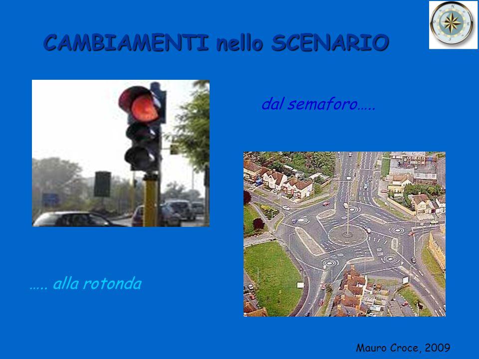 CAMBIAMENTI nello SCENARIO dal semaforo….. ….. alla rotonda Mauro Croce, 2009