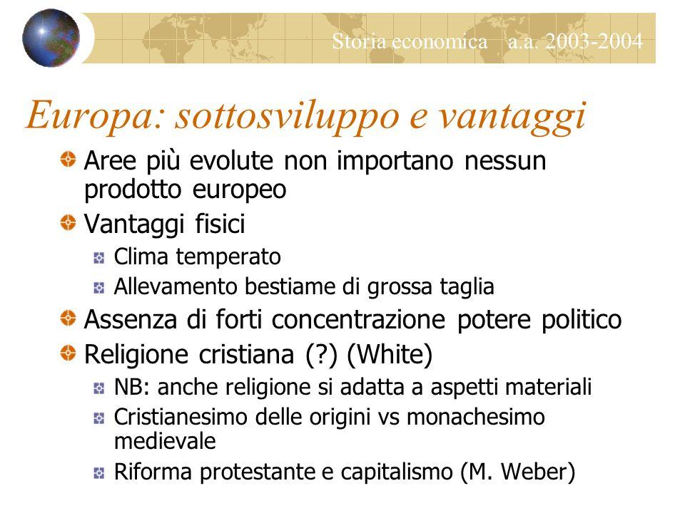 Storia economica a.a.2003-2004 La globalizzazione Fenomeni di convergenza e omologazione.