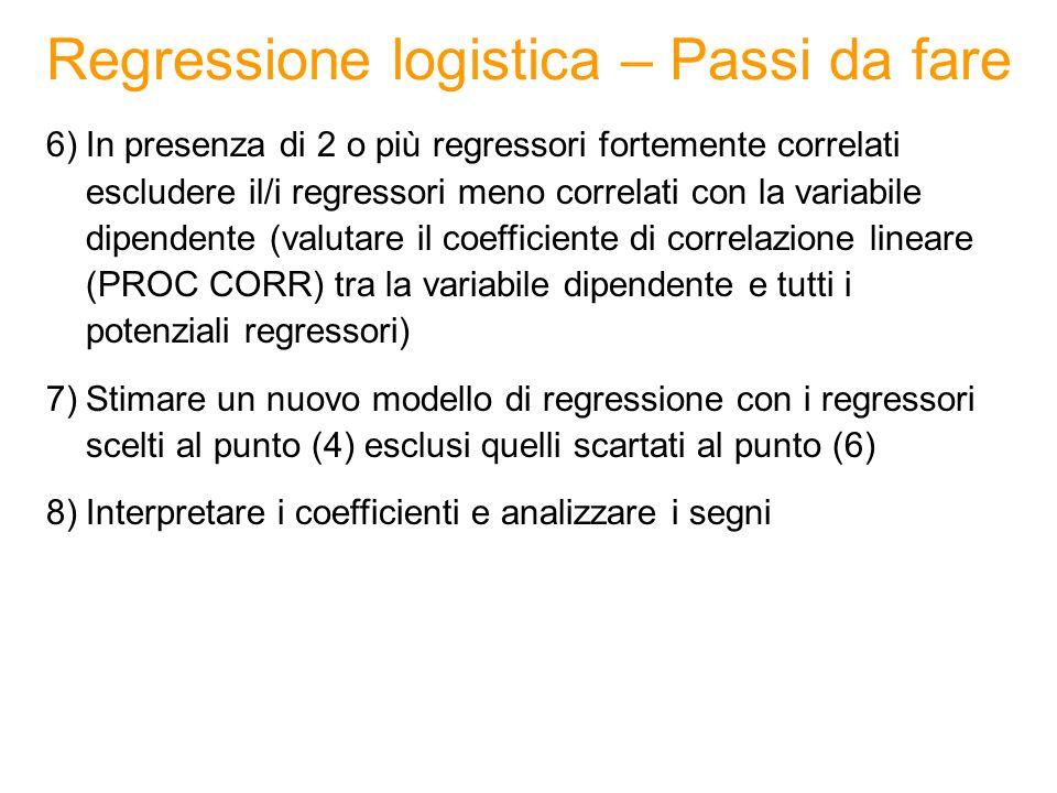 Regressione logistica – Esempio VARIABILE DIPENDENTE: 0: non utilizza gli MMS 1: utilizza gli MMS DATA SET: TELEFONIA Obiettivo: Obiettivo: prevedere l'utilizzo del servizio MMS a partire da un insieme di variabili (continue, discrete, dicotomiche).