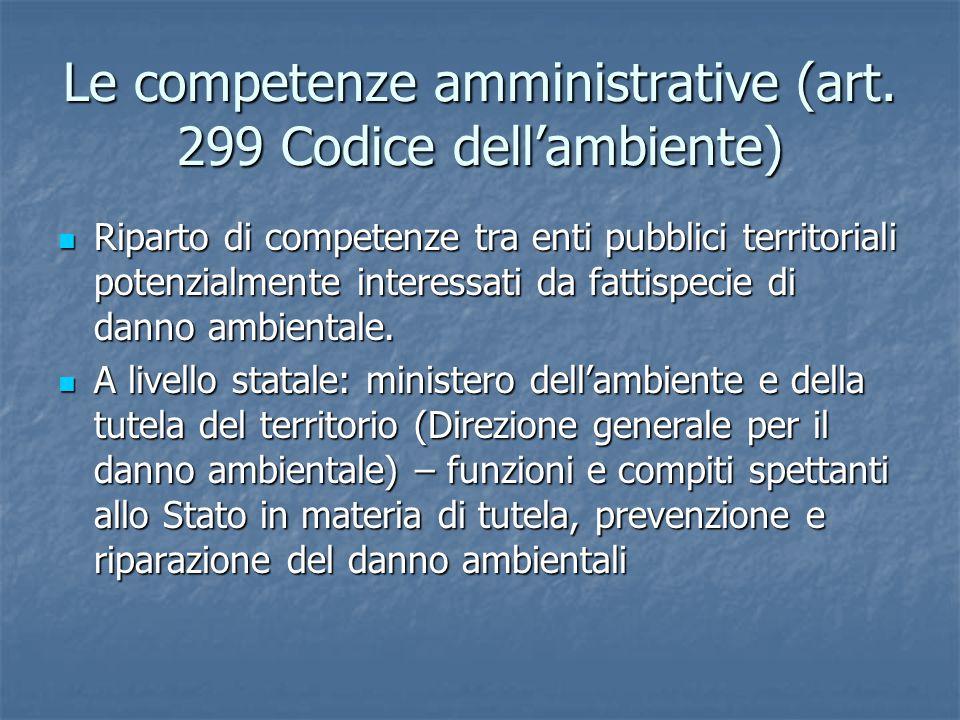 Le competenze amministrative (art.