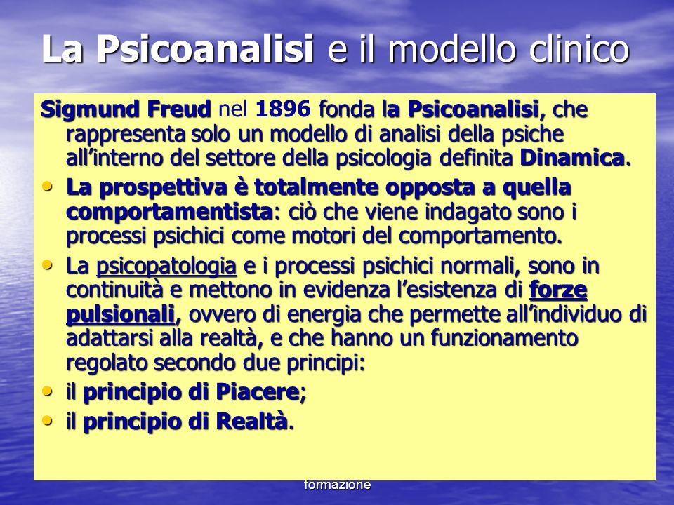 Marina Mura - Servizi sociali - Psicologia dello sviluppo e della formazione La Psicoanalisi e il modello clinico Sigmund Freud fonda la Psicoanalisi,