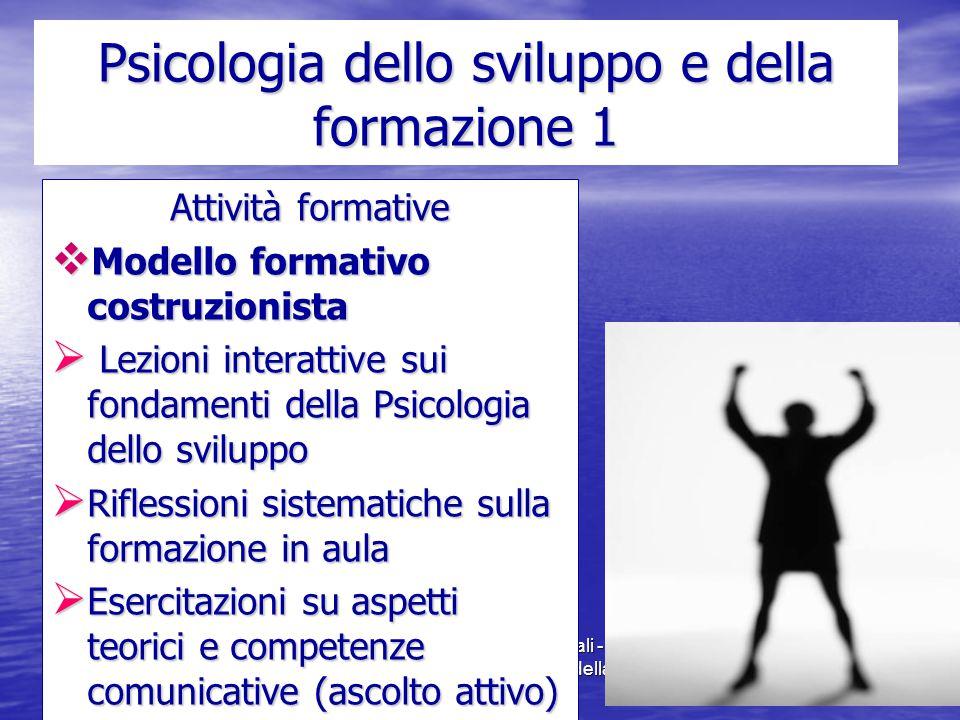 Marina Mura - Servizi sociali - Psicologia dello sviluppo e della formazione Psicologia dello sviluppo e della formazione 1 Attività formative  Model