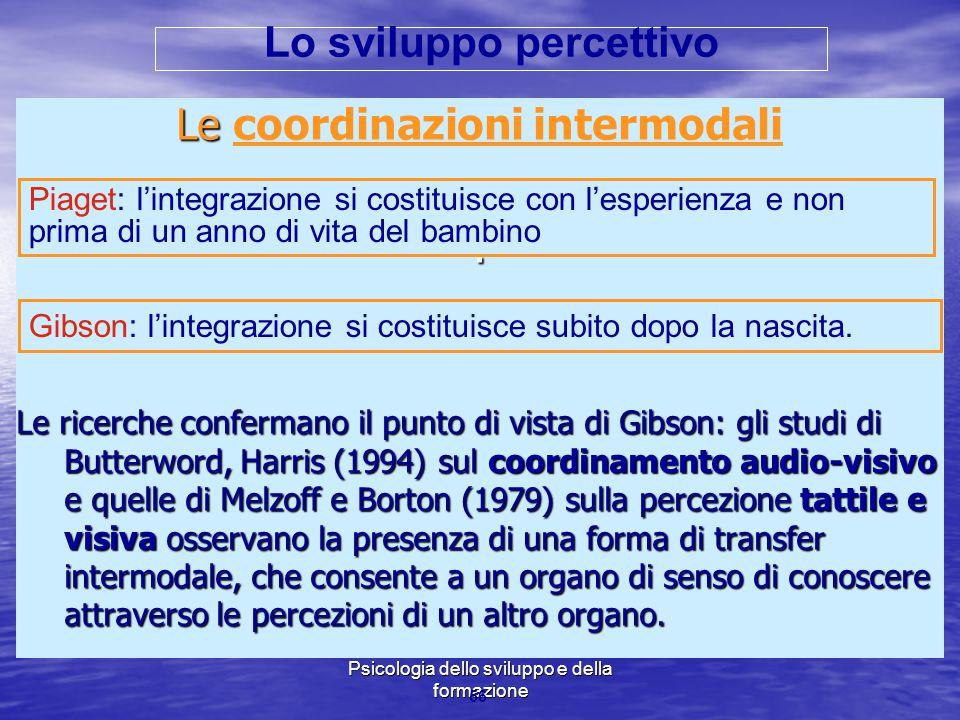 Marina Mura - Servizi sociali - Psicologia dello sviluppo e della formazione Le Le coordinazioni intermodali. Le ricerche confermano il punto di vista