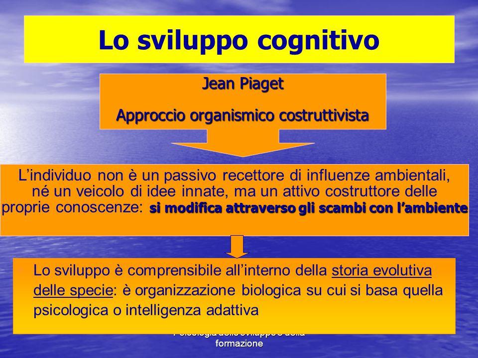 Marina Mura - Servizi sociali - Psicologia dello sviluppo e della formazione Lo sviluppo cognitivo Jean Piaget Approccio organismico costruttivista L'