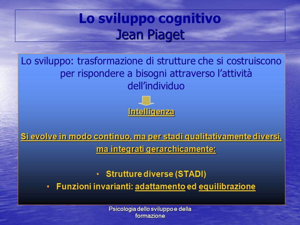 Marina Mura - Servizi sociali - Psicologia dello sviluppo e della formazione Jean Piaget Lo sviluppo cognitivo Jean Piaget Lo sviluppo: trasformazione