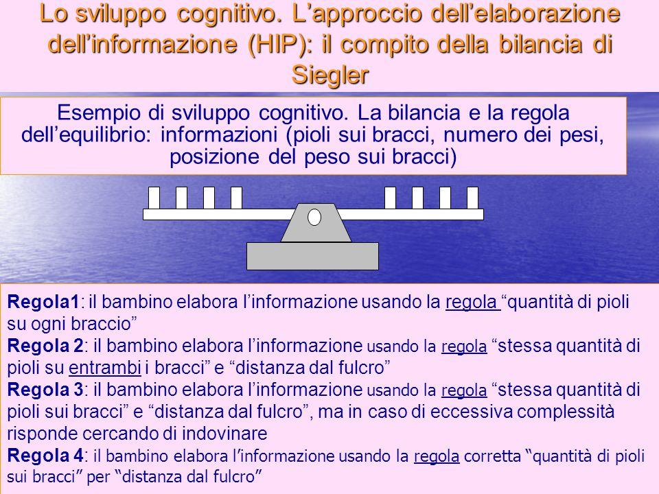"""Marina Mura - Servizi sociali - Psicologia dello sviluppo e della formazione 96 Regola1: il bambino elabora l'informazione usando la regola """"quantità"""