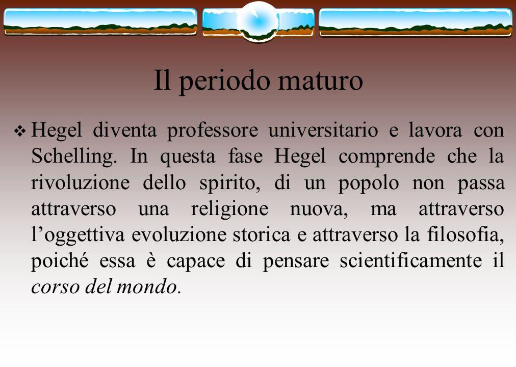 Filosofia dello spirito (sintesi)  E' la scienza dell'idea, che ritorna in sé dalla sua alterità.