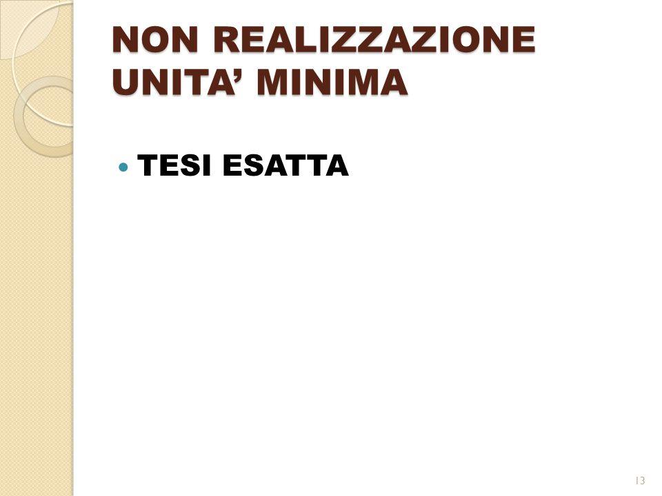 NON REALIZZAZIONE UNITA' MINIMA TESI ESATTA 13