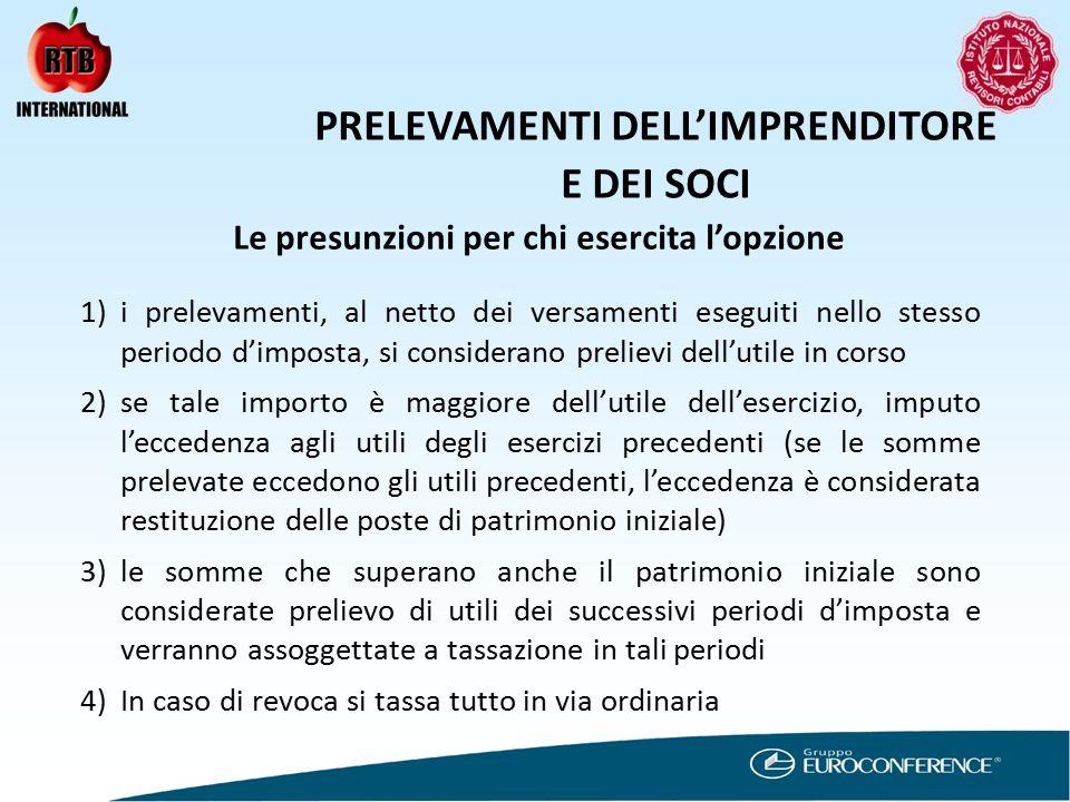 IMPOSTA PROPORZIONALE REDDITO D'IMPRESA PER SOGGETTI IRPEF I PROBLEMI (TRA I TANTI) APERTI: .