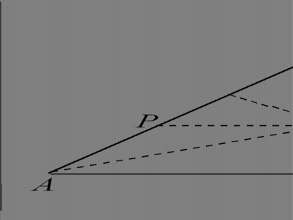 In un triangolo ABC disegnare la retta PQ parallela alla base AB che taglia i lati nei punti P e Q, cosicch é PQ valga AP + BQ