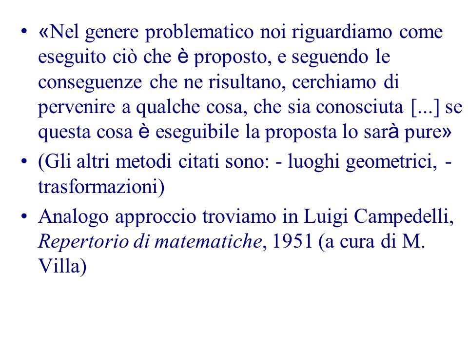 Alfredo Sabbatini, Questioni riguardanti le matematiche elementari, parte II, edizione III, 1926Articolo XIII. Sui metodi elementari per la risoluzion