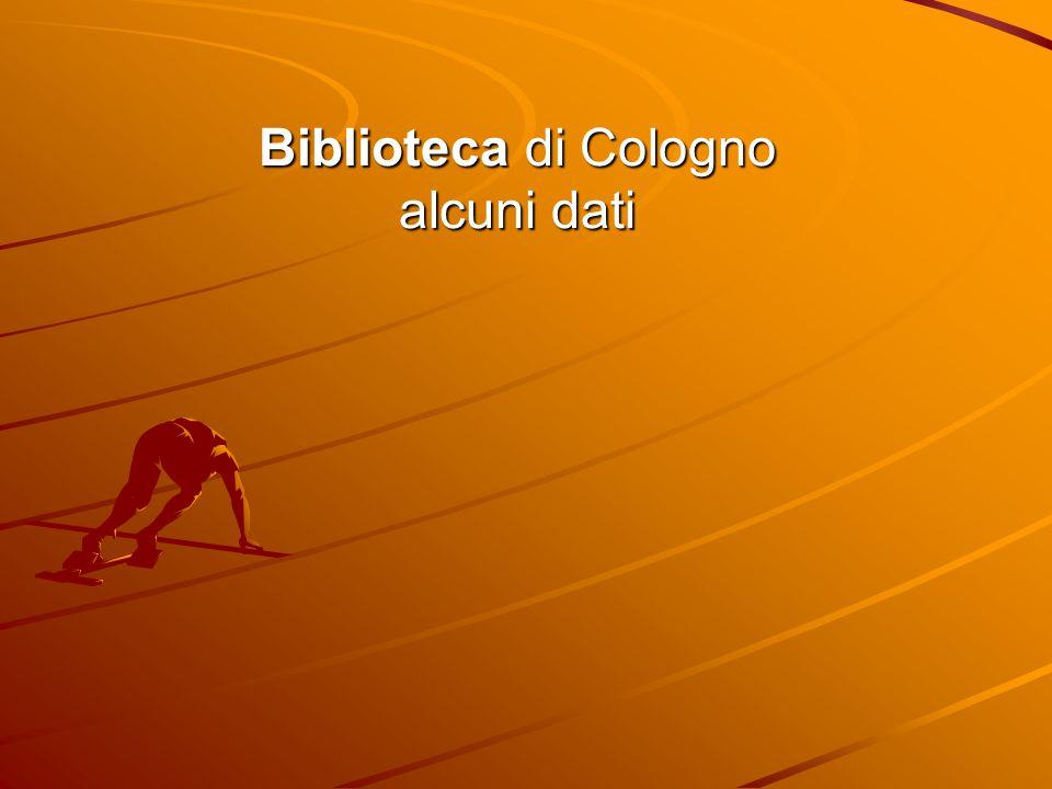 Biblioteca di Cologno alcuni dati