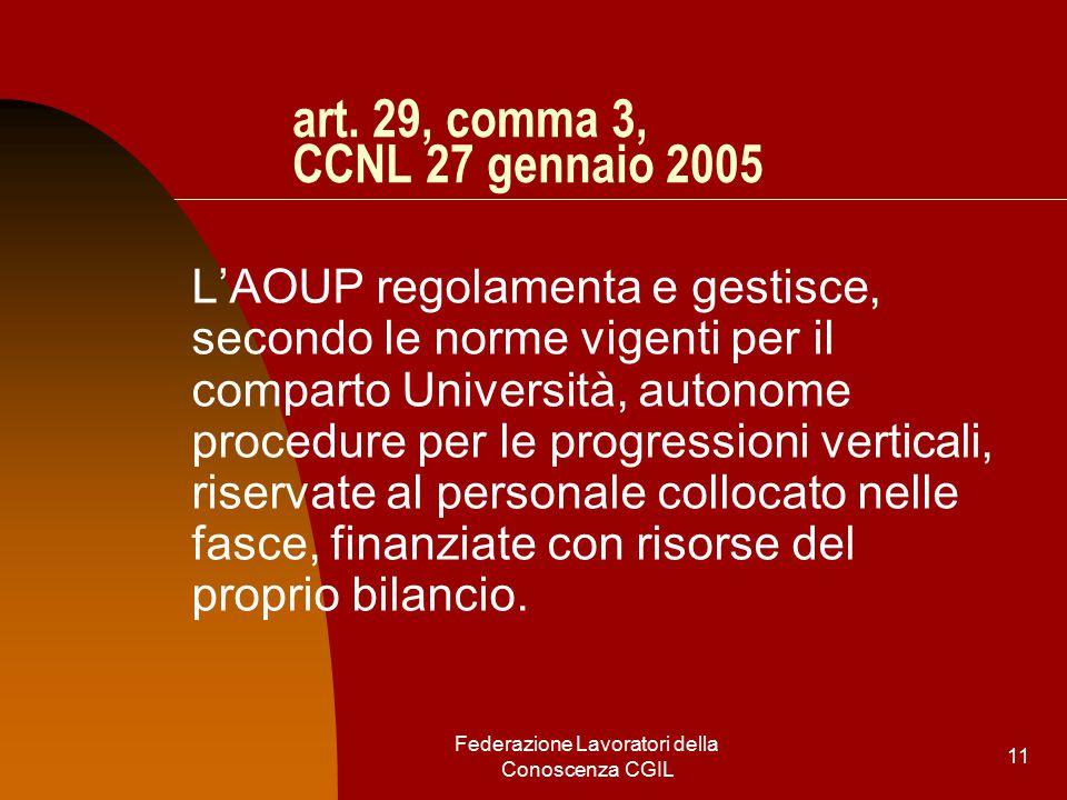 Federazione Lavoratori della Conoscenza CGIL 11 art.