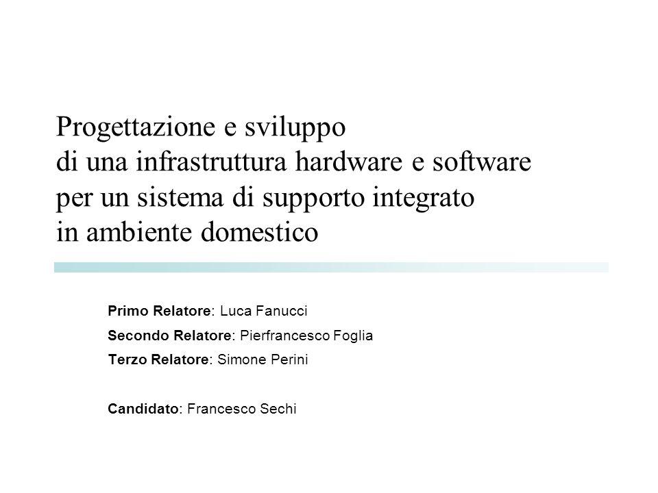 Progettazione e sviluppo di una infrastruttura hardware e software per un sistema di supporto integrato in ambiente domestico Primo Relatore: Luca Fan