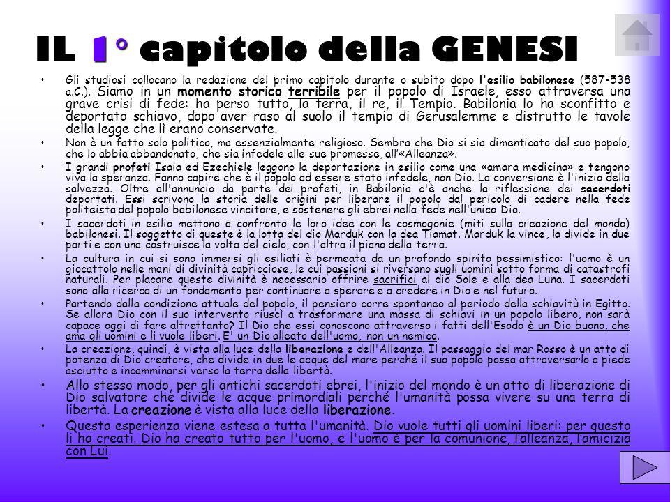 I capitoli 2  e 3  della Genesi sono stati scritti anteriormente al capitolo 1 .