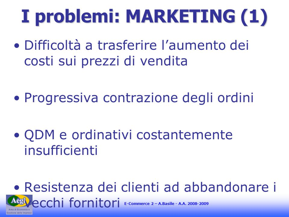 E-Commerce 2 – A.Basile - A.A.