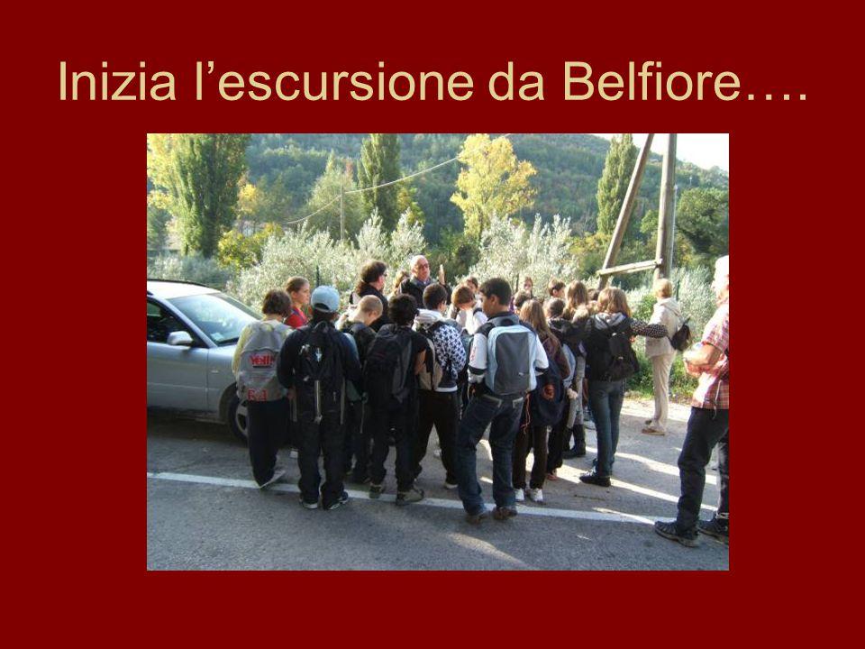 Inizia l'escursione da Belfiore….