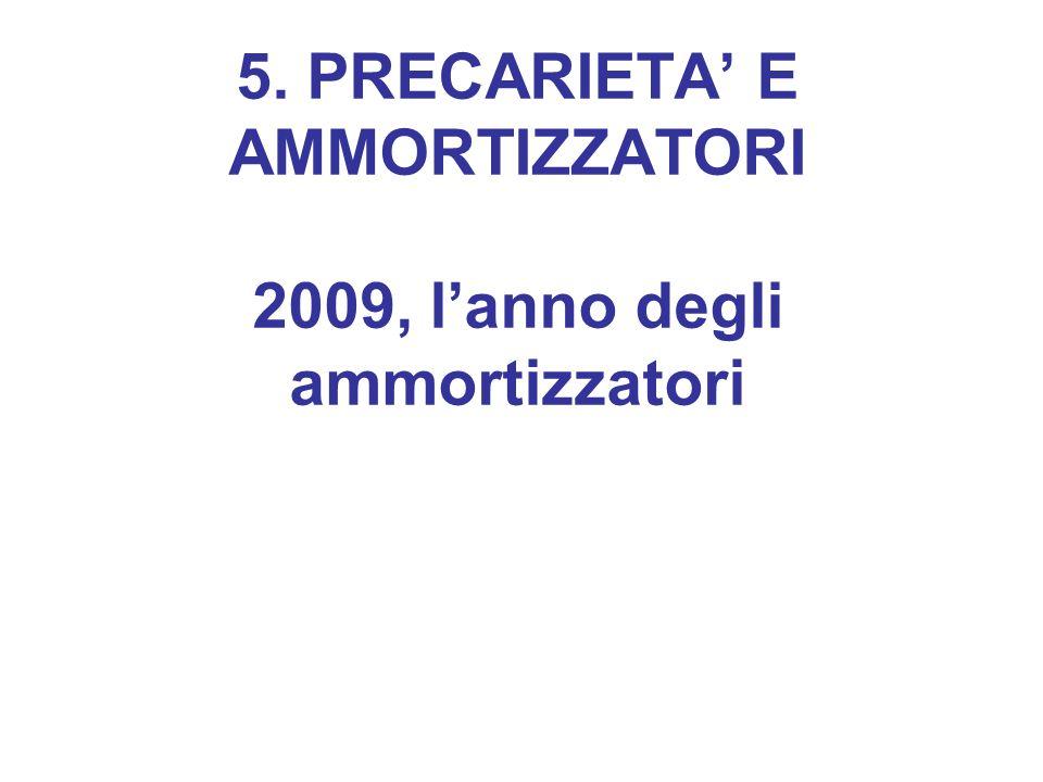 5. PRECARIETA' E AMMORTIZZATORI 2009, l'anno degli ammortizzatori