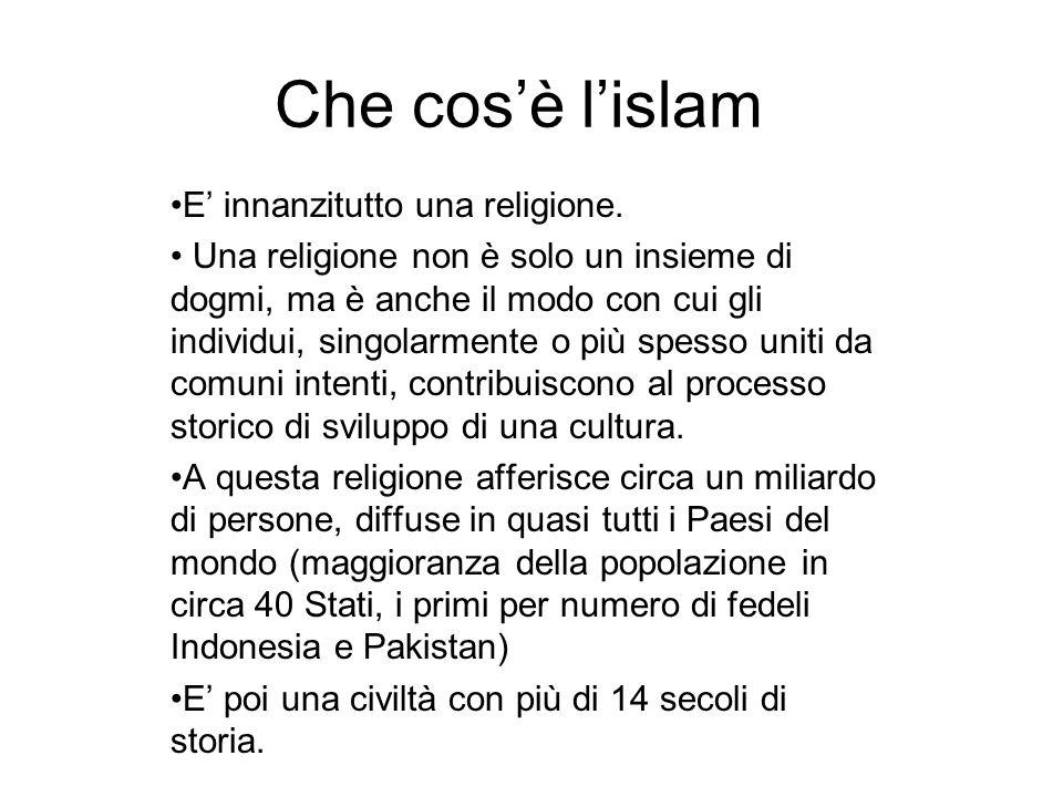 Che cos'è l'islam E' innanzitutto una religione.