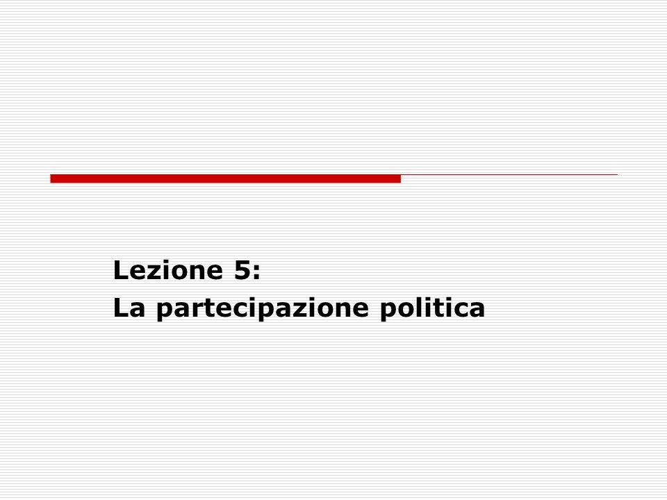 Lezione 5: La partecipazione politica