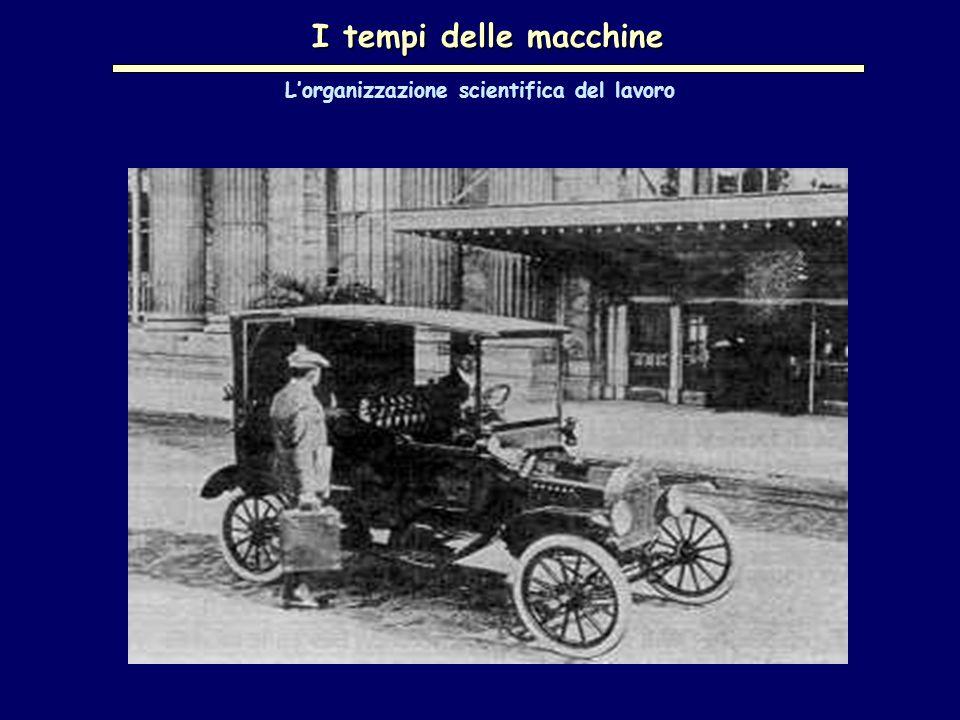 I tempi delle macchine L'organizzazione scientifica del lavoro