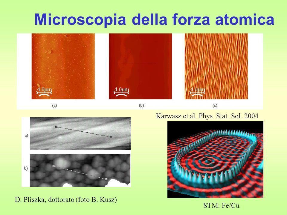 Microscopia della forza atomica STM: Fe/Cu Karwasz et al.
