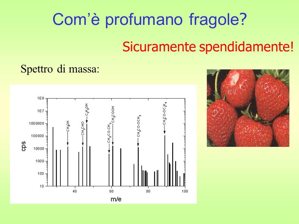 Com'è profumano fragole ? Spettro di massa: Sicuramente spendidamente!