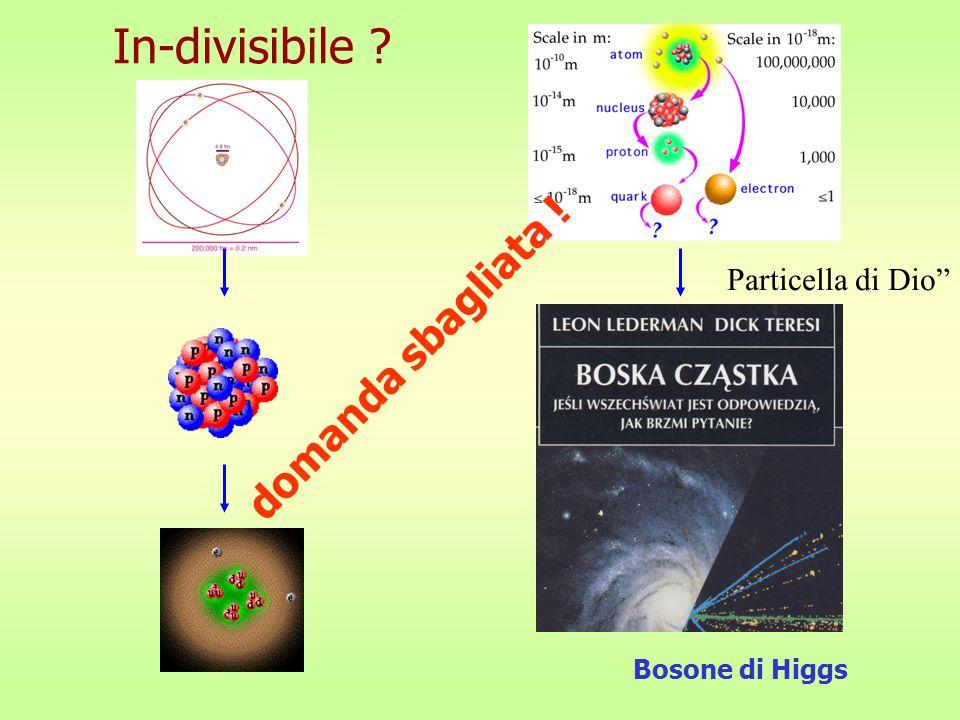 In-divisibile ? Bosone di Higgs domanda sbagliata ! Particella di Dio