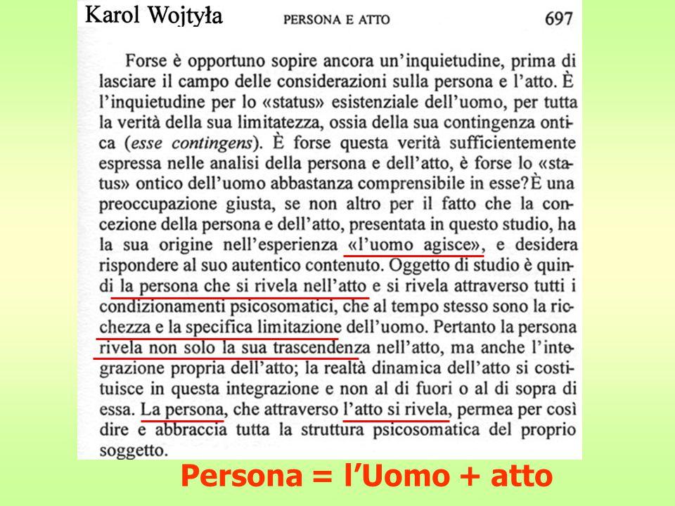 Persona = l'Uomo + atto