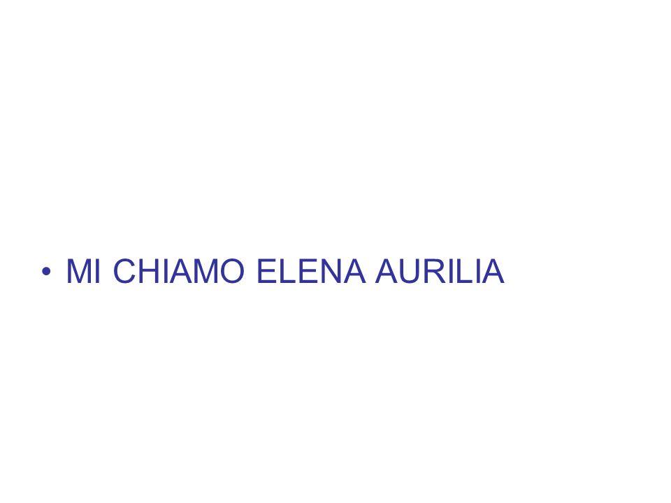 MI CHIAMO ELENA AURILIA