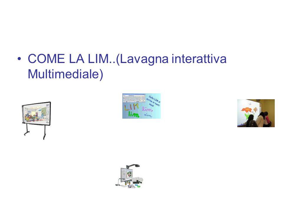 COME LA LIM..(Lavagna interattiva Multimediale)