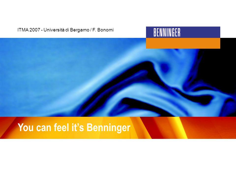 You can feel it's Benninger ITMA 2007 - Università di Bergamo / F. Bonomi