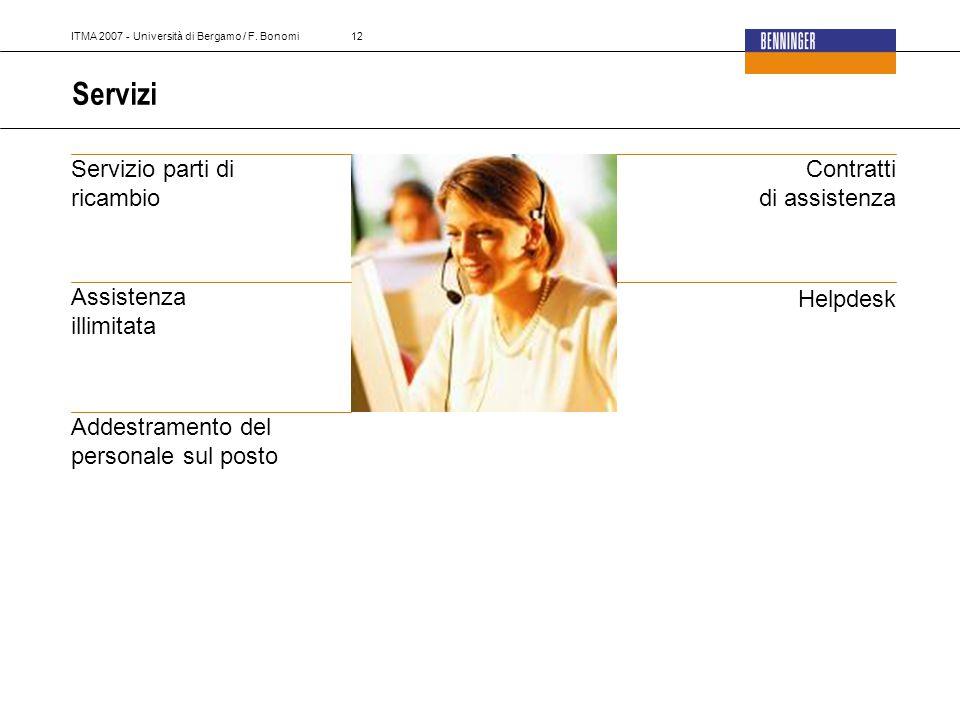 ITMA 2007 - Università di Bergamo / F.