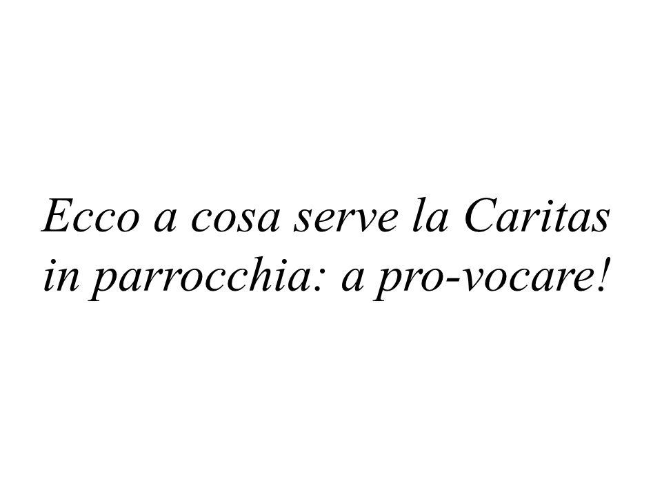 Ecco a cosa serve la Caritas in parrocchia: a pro-vocare!