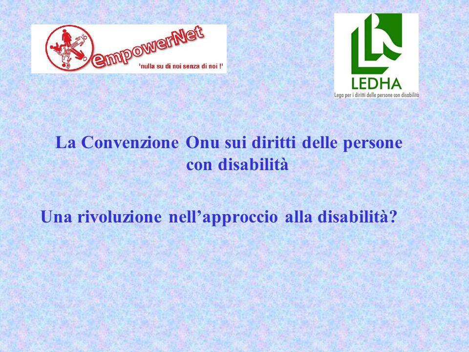 I principi (a)Il rispetto per la dignità intrinseca, l'autonomia individuale – compresa la libertà di compiere le proprie scelte – e l'indipendenza delle persone; (b)La non-discriminazione; (c)La piena ed effettiva partecipazione e inclusione all'interno della società; (d)Il rispetto per la differenza e l'accettazione delle persone con disabilità come parte della diversità umana e dell'umanità stessa; (e)La parità di opportunità; (f)L'accessibilità; (g)La parità tra uomini e donne; (h)Il rispetto per lo sviluppo delle capacità dei bambini con disabilità e il rispetto per il diritto dei bambini con disabilità a preservare la propria identità.