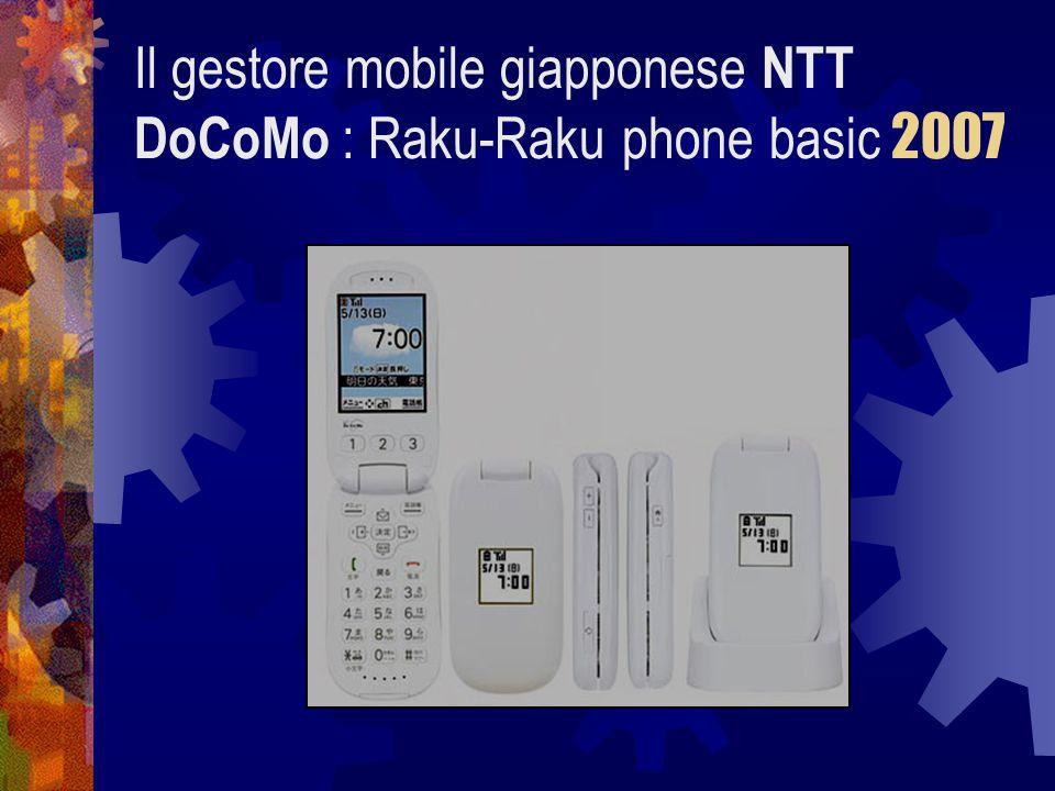 Il gestore mobile giapponese NTT DoCoMo : Raku-Raku phone basic 2007