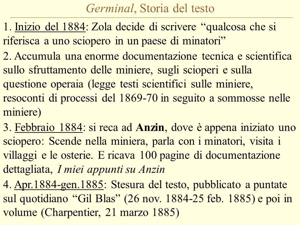 Germinal, Storia del testo 1.