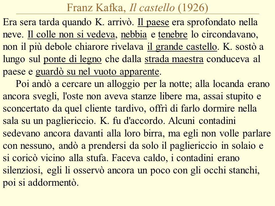 Franz Kafka, Il castello (1926) Era sera tarda quando K.