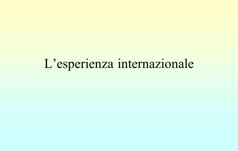 L'esperienza internazionale