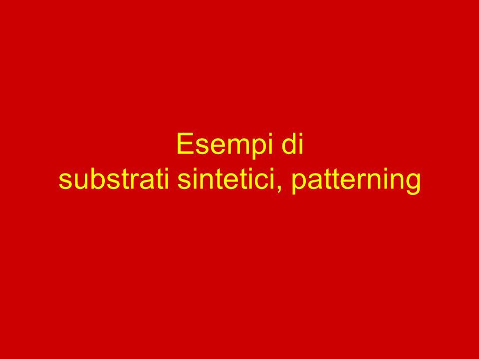 Esempi di substrati sintetici, patterning