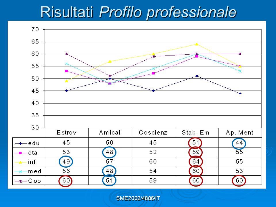 SME2002/4886/IT Risultati Profilo professionale