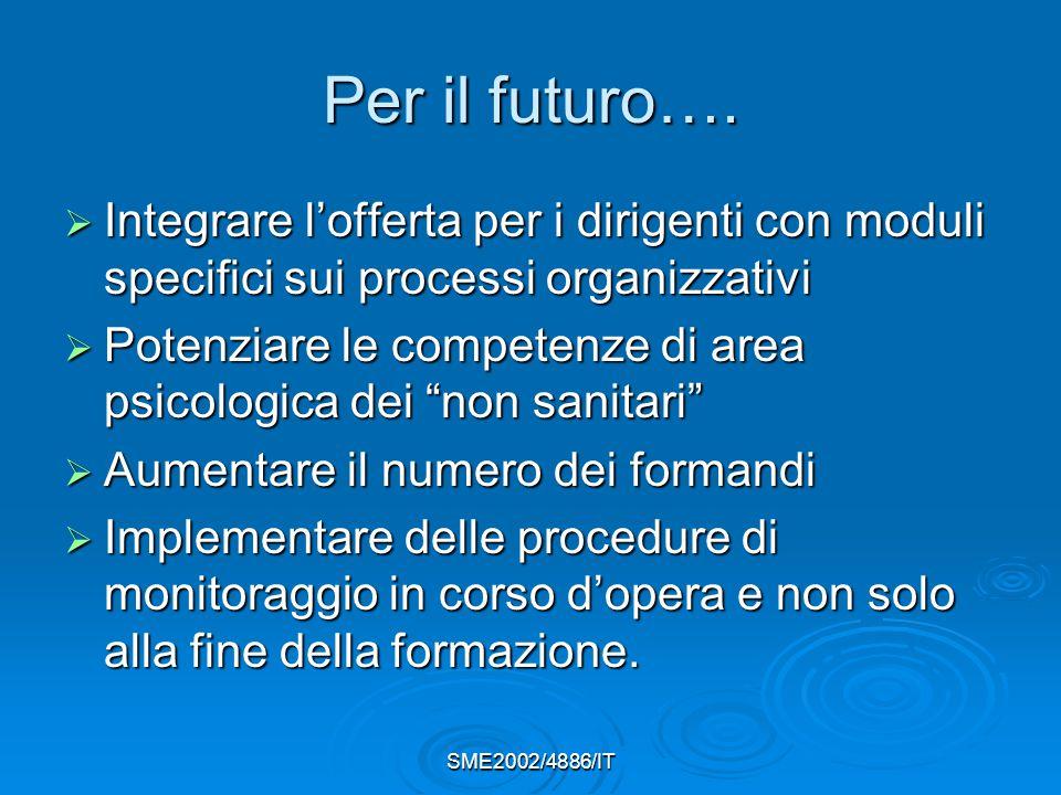SME2002/4886/IT Per il futuro….